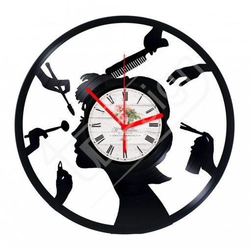 Szépségszalon hanglemez óra - bakelit óra