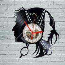Fodrász, borbély hanglemez óra