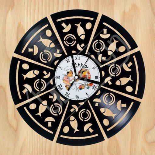 Pizza hanglemez óra - bakelit óra