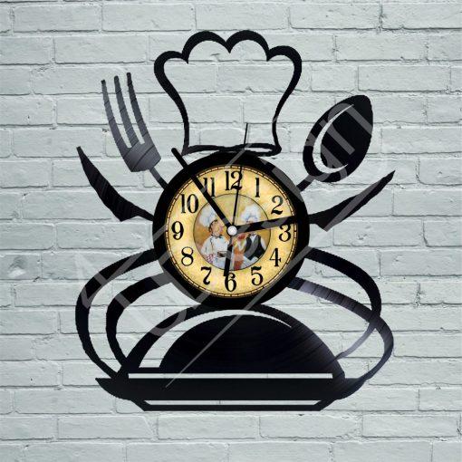 Szakács hanglemez óra - bakelit óra