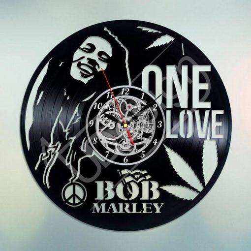 Bob Marley hanglemez óra - bakelit óra