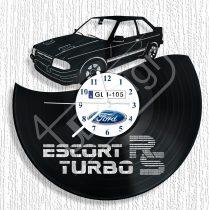 Ford Escort RS turbó hanglemez rendszámmal óra