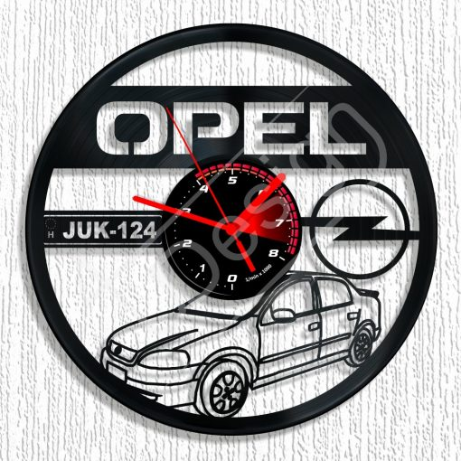 Opel Astra hanglemez rendszámmal óra - bakelit óra