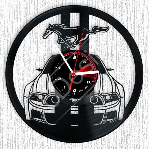 Ford Mustang hanglemez óra - bakelit óra