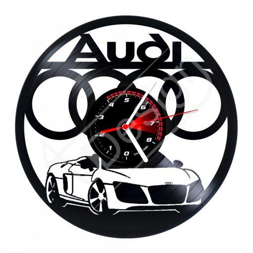 Audi hanglemez óra - bakelit óra