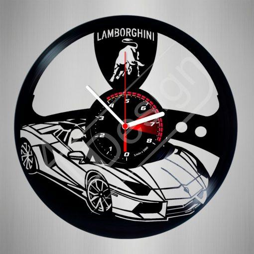 Lamborghini hanglemez óra - bakelit óra