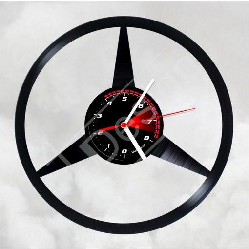 Mercedes hanglemez óra - bakelit óra