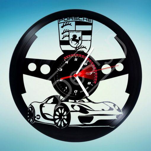 Porsche hanglemez óra - bakelit óra