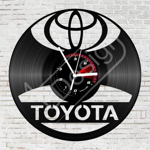 Toyota hanglemez óra - bakelit óra