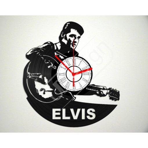 Elvis Presley hanglemez óra - bakelit óra
