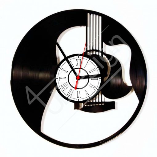 Gitár hanglemez óra - bakelit óra