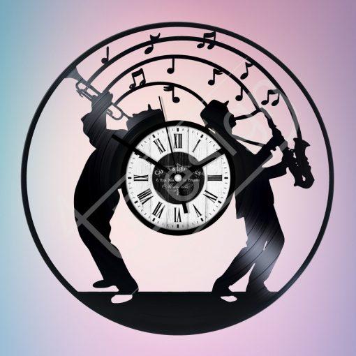 Jazz hanglemez óra - bakelit óra