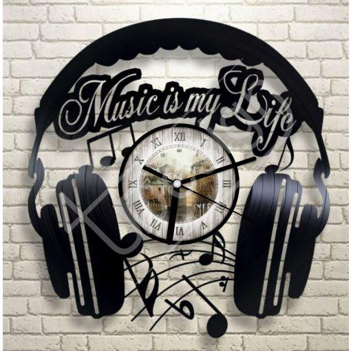 Music hanglemez óra - bakelit óra