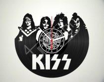 KISS hanglemez óra