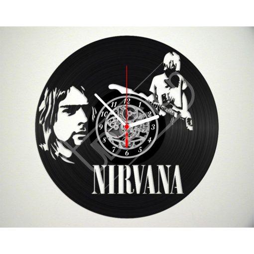 Nirvana hanglemez óra - bakelit óra