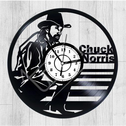 Chuck Norris hanglemez óra - bakelit óra