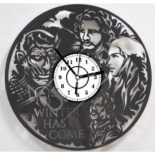 GOT Trónok harca hanglemez óra - bakelit óra