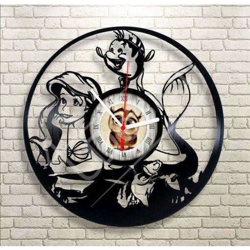A kis hableány - Ariel - hanglemez óra - bakelit óra