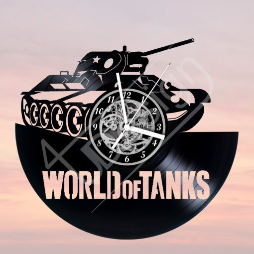 World of Tanks - WOT tankos hanglemez óra - bakelit óra