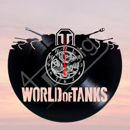 World of Tanks - WOT tankos hanglemez óra - bakelit óra