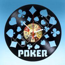 Póker hanglemez óra
