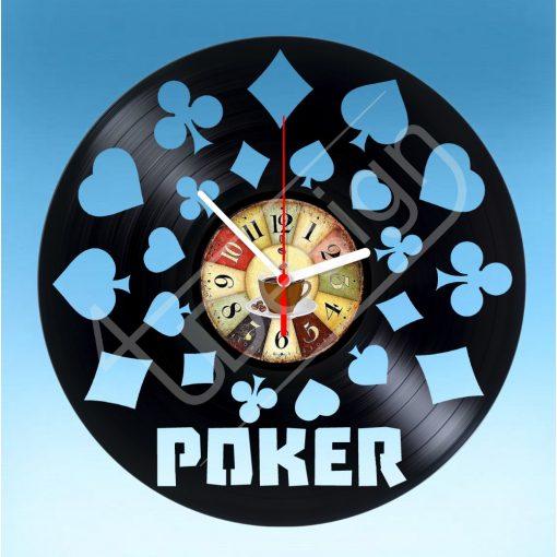 Póker hanglemez óra - bakelit óra