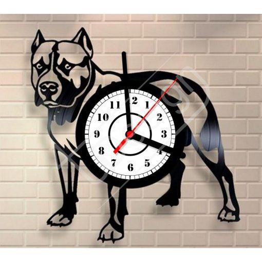 Kutyás hanglemez óra - bakelit óra