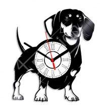 Kutyás tacskó hanglemez óra