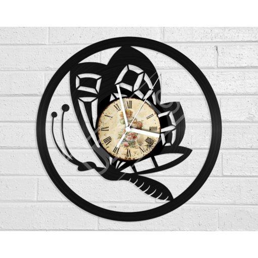 Pillangó hanglemez óra - bakelit óra