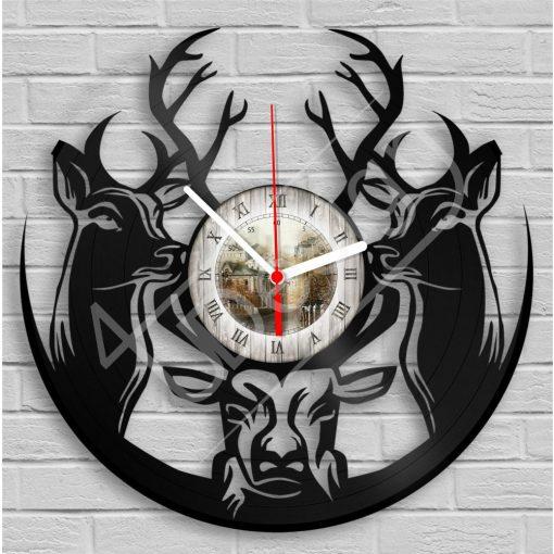 Bakelit óra Szarvasok hanglemez óra