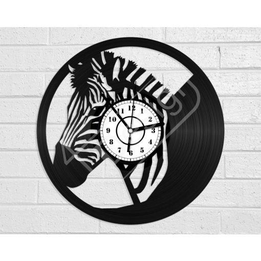Zebra hanglemez óra - bakelit óra