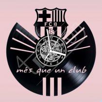 FCB Barcelona címer hanglemez óra