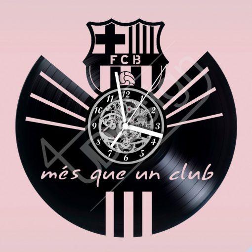 FCB Barcelona címer hanglemez óra - bakelit óra