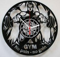 No pain - no gain Body builder hanglemez óra