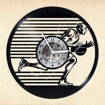 Kosárlabdás hanglemez óra