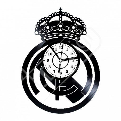 Real Madrid címeres hanglemez óra - bakelit óra