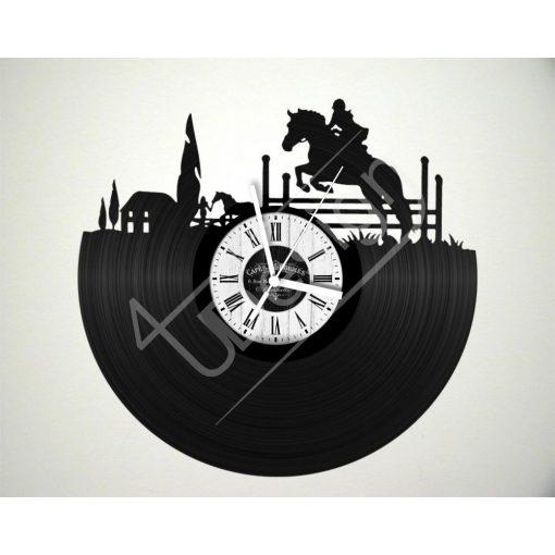 Lovaglás hanglemez óra - bakelit óra
