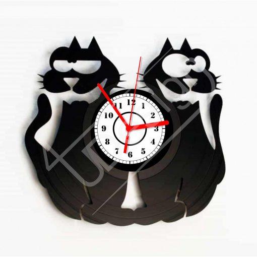 Macskák hanglemez óra - bakelit óra
