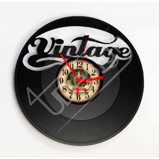 Vintage hanglemez óra - bakelit óra