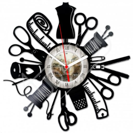 Szabó-varró hanglemez óra - bakelit óra