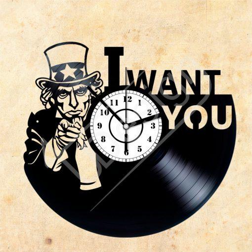 I Want You hanglemez óra - bakelit óra