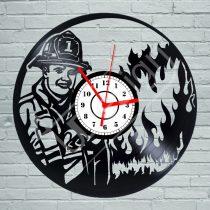 Tűzoltó hanglemez óra