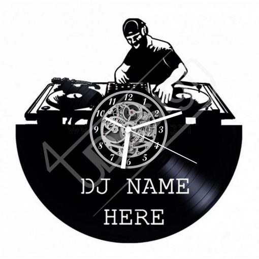 DJ-s egyedi szöveggel hanglemez óra - bakelit óra
