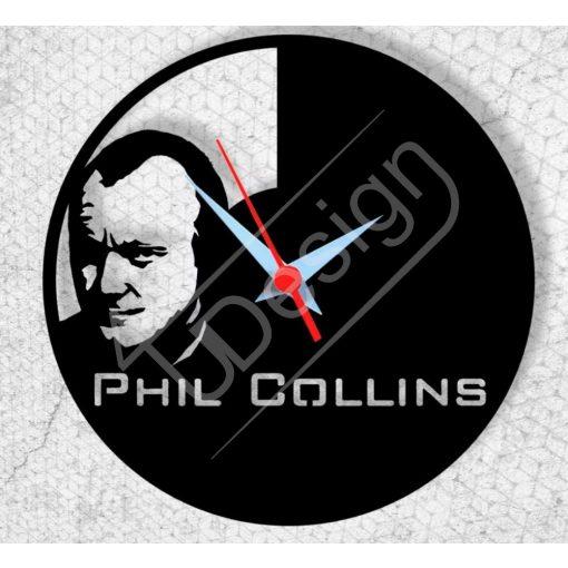 Phil Colins hanglemez óra - bakelit óra