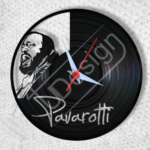 Pavarotti hanglemez óra - bakelit óra