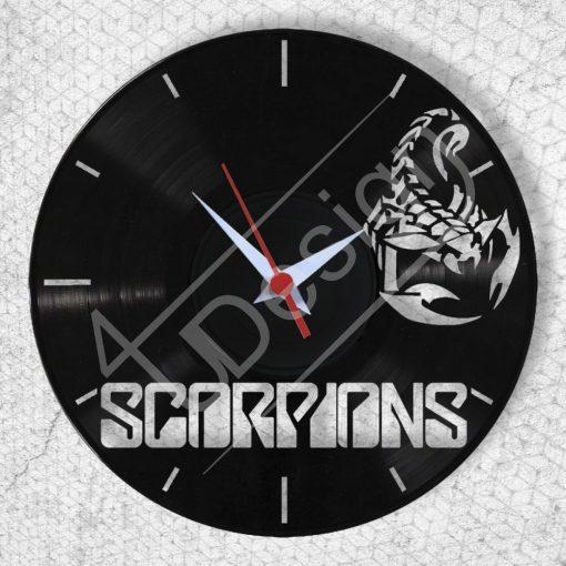 Scorpions hanglemez óra - bakelit óra