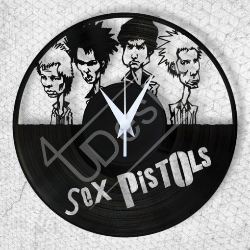 Sex Pistols hanglemez óra - bakelit óra