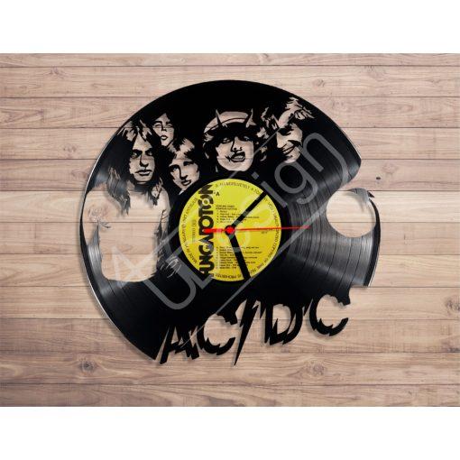 AC/DC hanglemez óra - bakelit óra