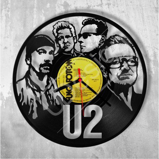 U2 hanglemez óra - bakelit óra