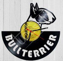 Bullterrier hanglemez óra